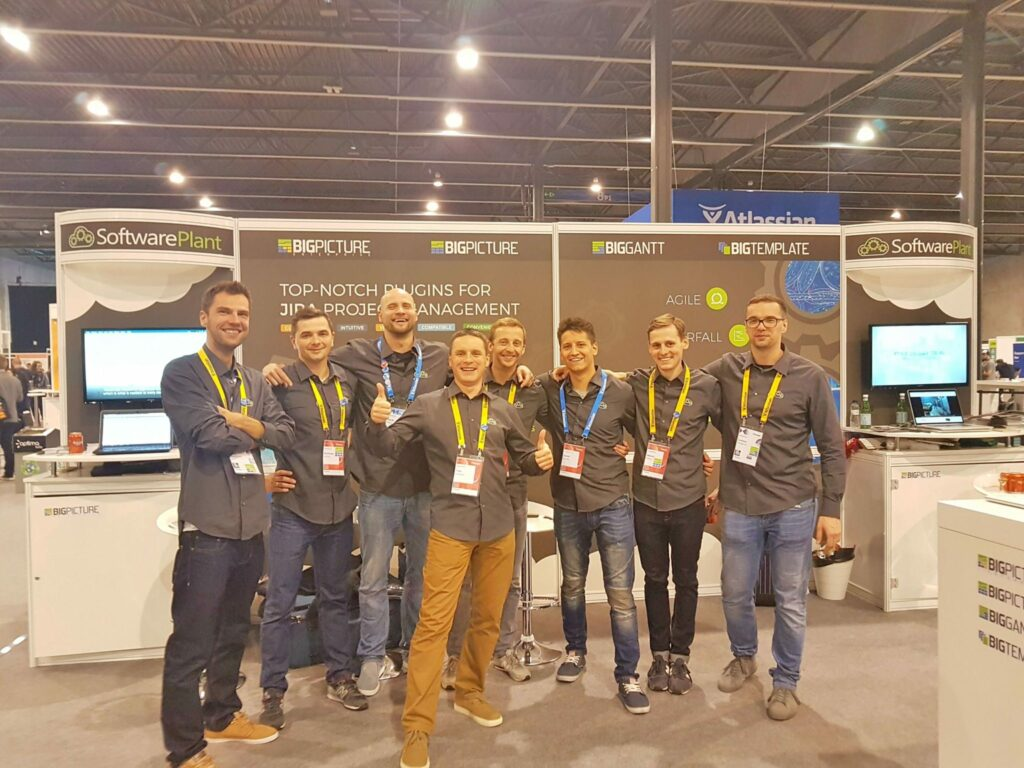 Whole booth crew from SoftwarePlant
