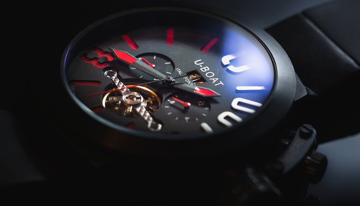 U-Boat watch. Cadence, time duration