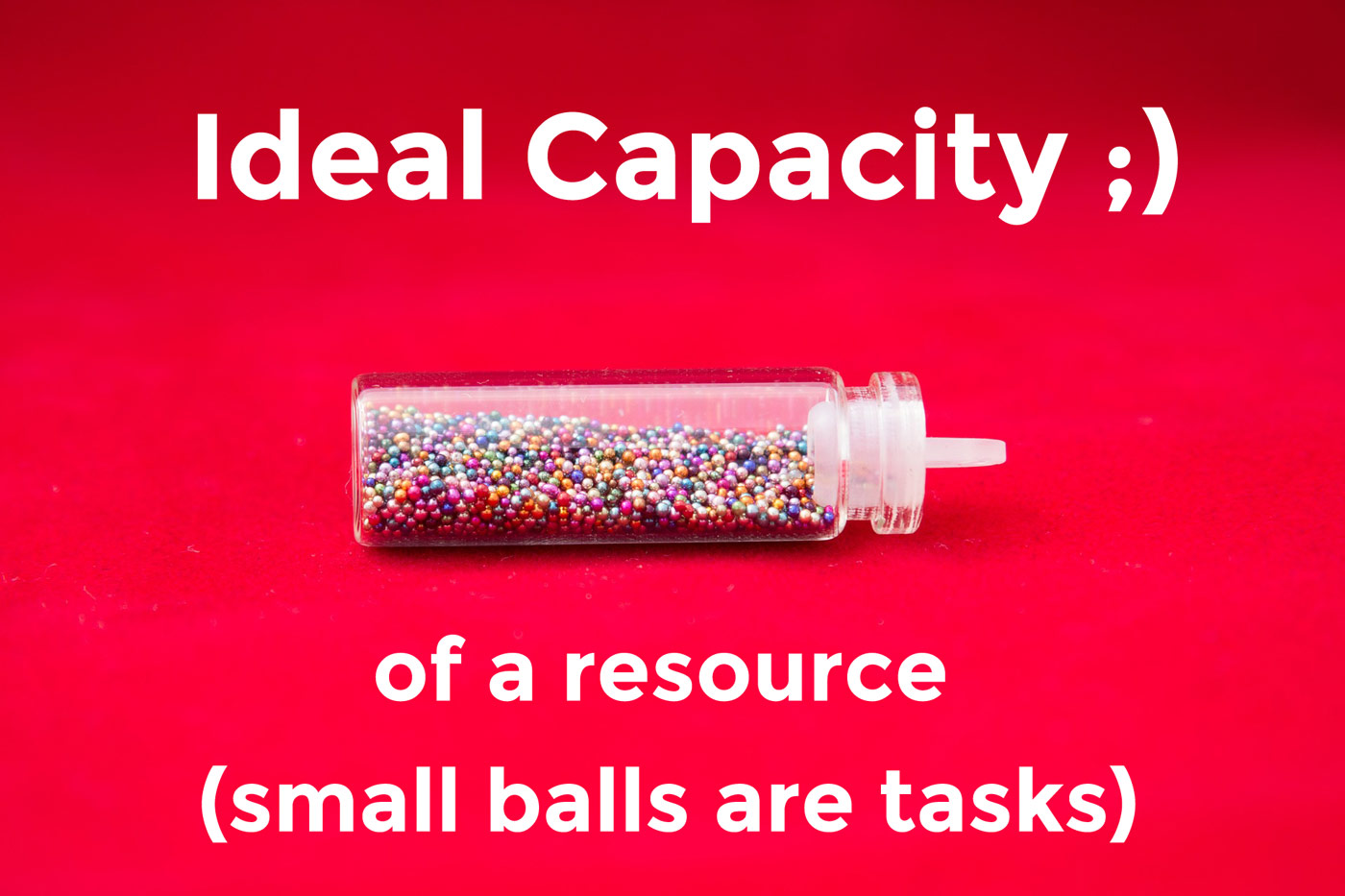 Ideal capacity of a resource