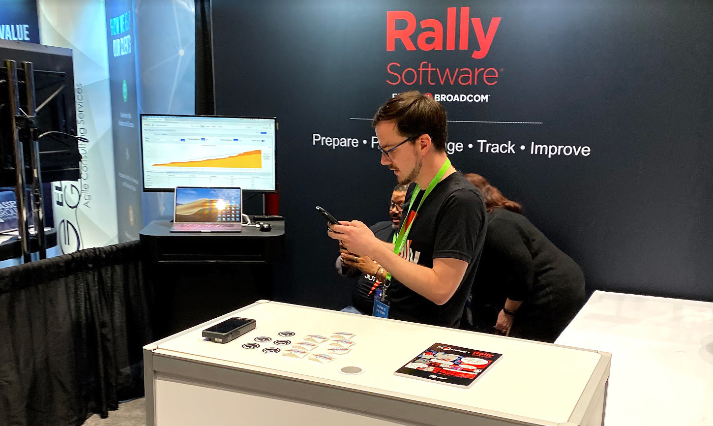 Rally Software Broadcom booth SAFe summit